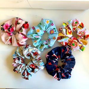 Cute Cotton Scrunchies Pack
